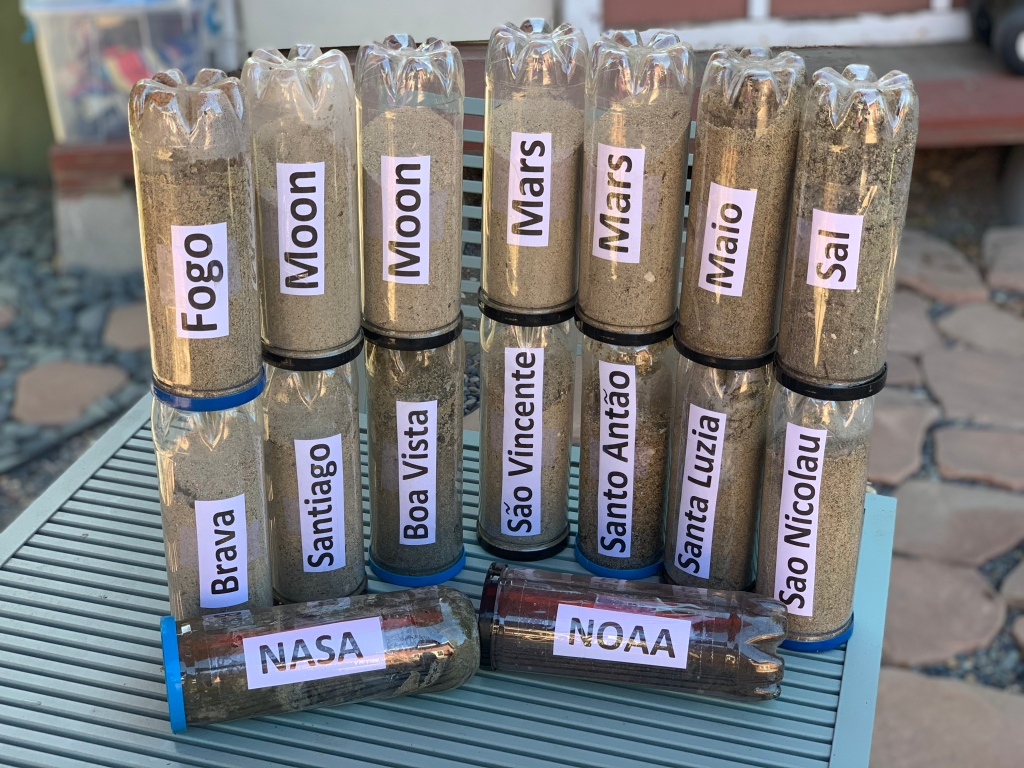 We are working with soil samples from around the world.  www.BarbozaSpaceCenter.com